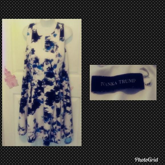 b93c45fc04d Ivanka Trump Dresses   Skirts - A-line impressionist print 16w plus size  dress.